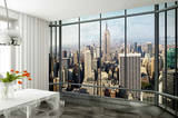 New York Skyline Window Wallpaper Mural