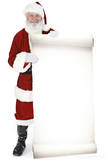 Santa with Large Sign Board Lifesize Standup Cardboard Cutouts