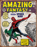 Spider Man Comic Cover Tin Sign