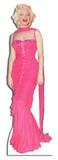 Marilyn Monroe Pink Evening Gown Lifesize Standup Cardboard Cutouts