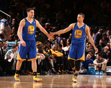 Feb 28, 2014, Golden State Warriors vs New York Knicks - Klay Thompson, Stephen Curry Photographic Print