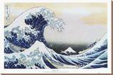 The Great Wave at Kanagawa , c.1829 Stretched Canvas Print