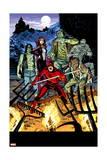 Daredevil #32 Cover: Daredevil, Satana, the Living Mummy, Frankensteins Monster, Werewolf by Night
