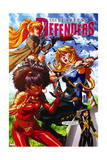 Fearless Defenders #9 Cover: Misty Knight, Valkyrie, Bloodstone, Elsa, Moonstar