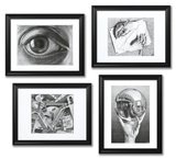 Buy Set of 4 Framed Escher Prints at AllPosters.com