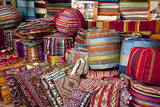 Typical Cushions in Street Shop, Marrakech, Morocco, North Africa, Africa