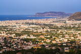 Cityscape of Palermo (Palermu) and the Coast of Sicily