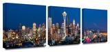 Seattle Nighttime 3-Piece Canvas Set