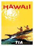 Hawaii - Fly TIA (Trans International Airlines) - Hawaiian Outrigger Canoe (Wa'a)