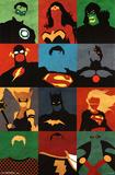 Justice League - Minimalist Wonder Woman- Run Batman Origins - Arkham Bats Wolverine One Sheet Movie Poster Suicide Squad- Harley Quinn Neon Glow dc comics
