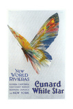 Butterfly, Ad for Cunard Line