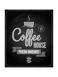 Buy Coffee Menu Design Chalkboard Background at AllPosters.com