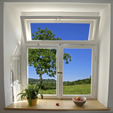 Window View Premium Poster