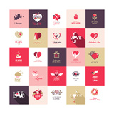 Big Set of Icons for Valentines Day