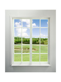Buy Modern Residential Window with Lake View at AllPosters.com