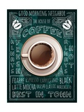 Buy Cup of Coffee on Blackboard Menu at AllPosters.com