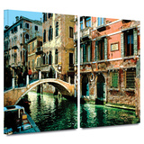 Buy Venice Canal 2 piece gallery-wrapped canvas at AllPosters.com