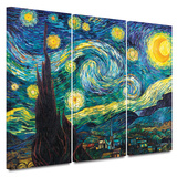 Starry Night 3 piece gallery-wrapped canvas Canvas Art Set