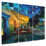 Buy Café Terrace at Night 3 piece gallery-wrapped canvas at AllPosters.com