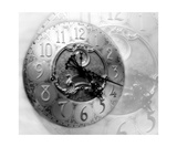 Grandfather Clock Photo Montage In Black And White