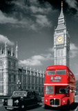 London Big Ben Bus and Taxi Giant Poster