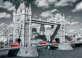 London Tower Bridge Buses Giant Poster