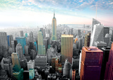 New York Cityscape Colors Giant Poster