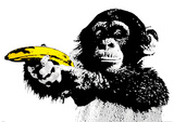 Monkey Banana Giant Poster
