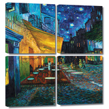 Buy Café Terrace at Night 4 piece gallery-wrapped canvas at AllPosters.com