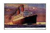 Dampfer R.M.S Caronia Auf Hoher See, Cunard Line
