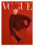 Vogue Cover, Red Rose, August 1956 Art Print