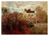 The Artist's Garden at Argenteuil Art Print