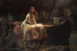 The Lady of Shalott, 1888 Poster