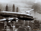 New York, New York, Flying Over Manhattan, 1946