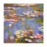 Water Lilies, 1916 Art Print
