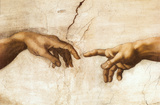 Buy Michelangelo Creation of Adam Art Print Poster at AllPosters.com