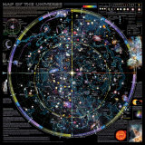 Map of Universe - �Spaceshots Art Print