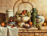 Italian Still Life with Green Grapes