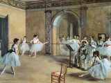 The Dance Foyer at the Opera on the Rue Le Peletier Art Print