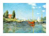 Red Boats at Argenteuil, c.1875 Art Print