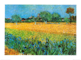 View of Arles with Irises Art Print