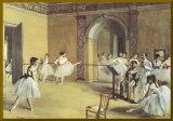 Le Foyer de la danse à l'opéra - Bordure dorée