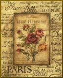 Bel Bouquet I - mini - Bordure dorée