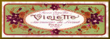 Violette (bordure dorée)
