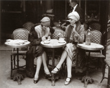 Women Sitting at a Cafe Terrace Art Print