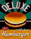 Deluxe Hamburger Art Print