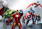 Marvel - Group Foil Poster