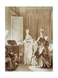 The Harpsichord, Illustration from