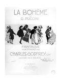 Front Cover of the Score of a 'Fantaisie' for Piano by Charles Godfrey Junr from 'La Boheme'
