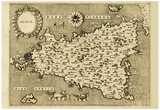 Buy Sicily Old Map, May Be Approximately Dated To The Xvii Sec at AllPosters.com